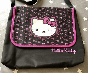 Hello Kitty Black Messenger Back VGC