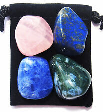 FRIENDSHIP Tumbled Crystal Healing Set = 4 Stones + Pouch + Card