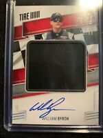 2019 Panini Prime William Byron Jumbo Material Autograph Race Used Tire 05/99