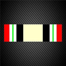 Iraq Campaign Medal Ribbon Sticker Decal U.S. Military Service Veteran Car