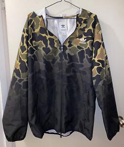 Adidas Size XL Camo Zip Hooded Jacket