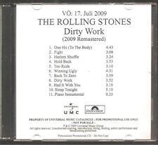 "ROLLING STONES ""Dirty Work"" German Acetate Promo CD RAR"