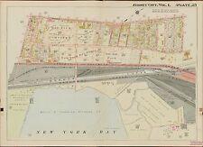1908 JERSEY CITY, HUDSON COUNTY, NEW JERSEY, BAY VIEW CEMETERY, COPY ATLAS MAP
