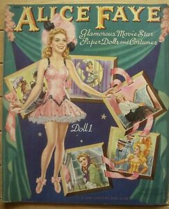 Vintage ALICE FAYE Paper Dolls  Uncut Book  Merrill Publishing  1941