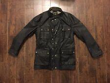 Belstaff The Roadmaster Waxed Cotton Jacket In Black - Size 56