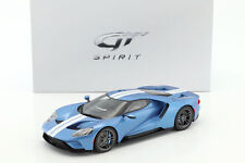 FORD GT my17 azul claro metálico / Blanco 1:18 gt-spirit