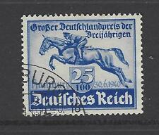 NAZI GERMANY # B-172 Used  BLUE RIBBON HAMBURG DERBY, HORSE RACING