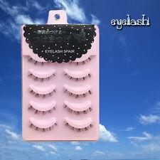 5 Pairs Natural Upper/Lower False Eyelashes Japanese Diamond Lash Original Order