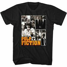 American Classics Pulp Fiction 90s Movie Collage of Images Adult Short Sleeve