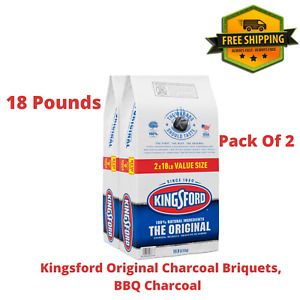 Kingsford Original-BBQ Charcoal Briquettes For Grilling - 18 lbs Each (2 Pack)