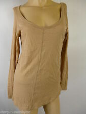 H&M Hip Length Cotton Scoop Neck Tops & Shirts for Women