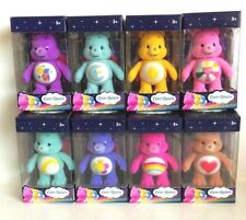 Care Bears 3 inch Flocked Posable Figures Complete Set Of 8 Boxed New 2017 Rare