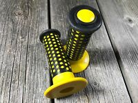 OLD SCHOOL BMX GRIPS YELLOW TAIWAN FUAN OAKLEY OLDSCHOOL BMX NOS COUNION NEW