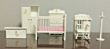 7 Pieces of Pitty Pat Miniatures Dollhouse Nursery Furniture