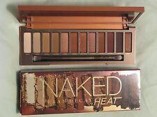 Urban Decay 'Naked Heat' Eye Shadow Palette NIB 12 Shades & Applicator Brush