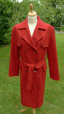 Katharine Hamnett red wool mix coat size 14?                               (B10)