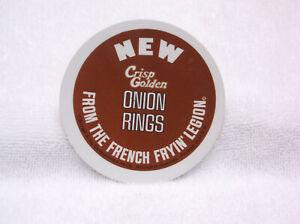 1974 BURGER KING Button Pin Pinback - Onion Rings fron the French Fryin' Legion