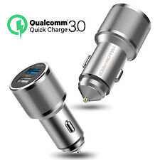 Universal QC 3.0  Fast Charging Dual Port Car Charger For iPhone Samsung iPad