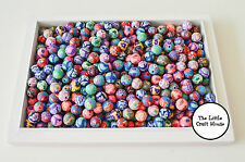 75 x Random Mix Polymer Clay Round Beads Approx. 8mm Bead Jewellery
