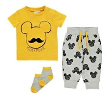 Baby Boys Disney Jogger Set Age 12 18 Months Mickey Mouse 3 Piece Outfit