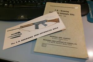 Vintage F.N. Browning semi-automatic rifle sales brochure & manual
