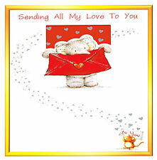 'Sending All My Love' Greeting Card (Handcrafted Design with Options)