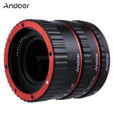 Andoer AF Macro tubo anello per Canon EOS EF EF-S 60 7 5D II 550D DSLR T9A5