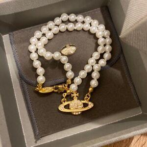 vivienne westwood Gold Orb pearl Chocker