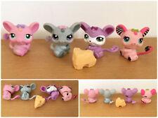 Littlest Pet Shop LOT 4 RATS SOURIS Rat #303 #2165 #2489 #1038 MICE RODENT