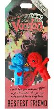 "Watchover VOODOO DOLL Keychain, BESTEST FRIEND, The Best Of Friends, 2"" Tall"