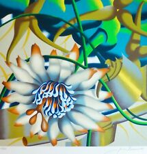"""Jack Brusca  """"Morning flower"""" 1979 Original serigraph HAND SIGNED N.Y ARTIST"""