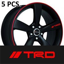 5pcs Toyota TRD #1 Door Handle sticker decal Corolla Camry Supra Tacoma Tundra