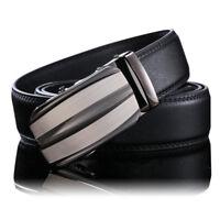 Fashion Luxury Men's Automatic Buckle Leather Belt Waist Waistband Strap Belt