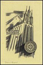 Jakubowski Wojciech 1958 Exlibris C2 Bookplate Architecture Church Toruń 68