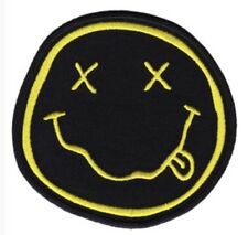 Nirvana Smiley Face Embroidered Patch N009P Foo Fighters Cobain Mudhoney