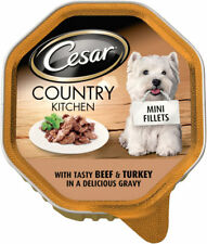 Cesar Country Kitchen Mini Fillets Tasy Beef & Turkey In Gravy 150g (Pack of 14)
