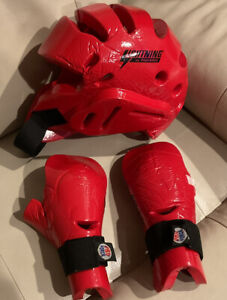 Lightning by ProForce Red Karate/Taekwondo Sparring Gear Package Child - USED