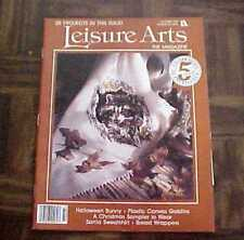 Leisure Arts Magazine - October 1991 - 20 Projects  Halloween Bunny, Goblins