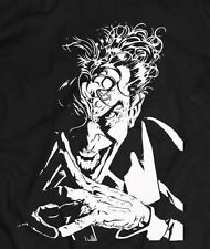 DC Comics JOKER T-shirt - CUSTOM SILHOUETTE ART  *RARE WORK FROM FAMOUS ARTIST**