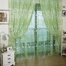 200*100cm Tenda Voile Floreale Verde ARREDO PORTE FINESTRE MILLEFILI