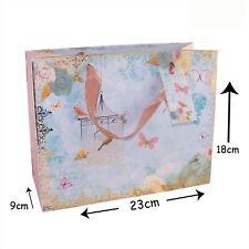 cbe0bc0d8 23x18cm Regalo Bolsa con Cinta Asas y Etiqueta - Pájaro y Mariposa
