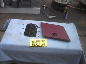 Amc 1971-1974 javelin amx glove box door panel and hinge and mounting screws