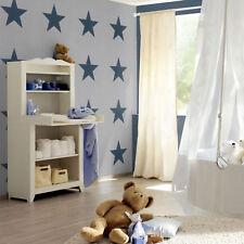 Star Wallpaper Stars Bold Kids Teenagers Bedroom Modern Print Grey Blue Rasch