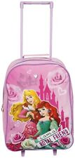 Disney Princess Kids Girls Wheeled Trolley Bag School Travel Cabin Holiday Bag
