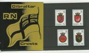 1985 GIBRALTAR - ROYAL NAVY CRESTS MINT PRESENTATION PACK FROM COLLECTION W5