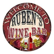 CMWB-0203 Welcome to RUBEN'S WINE BAR Chic Tin Sign Man Cave Decor Gift