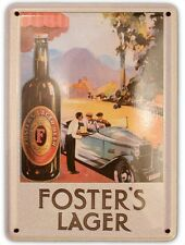 FOSTERS AUTO Small Vintage Metal Tin Pub Sign