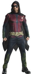Arkham City Robin Men's Fancy Dress Batman Superhero Halloween Adults Costume