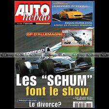 AUTO HEBDO N°1301 LISTER STORM GT FERRARI 360 MODENA MASERATI SPYDER ENGE 2001