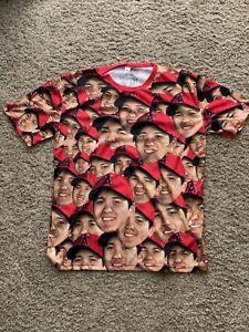 Shohei Ohtani Face Giveaway Shirt XL NEW Angels RARE